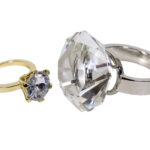 Jewellery Gold and silver diamond engagement rings