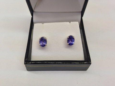 Tanzanite earrings on Sale