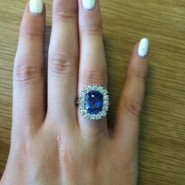 Recent sapphire and diamond ring
